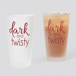 Dark and Twisty (red) Drinking Glass