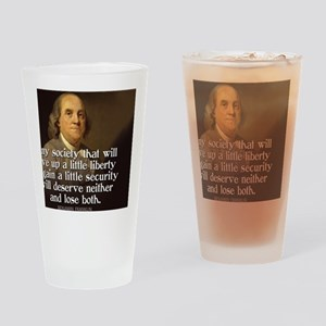 Ben Franklin Quote Drinking Glass