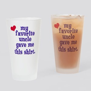 favorite-uncle Drinking Glass
