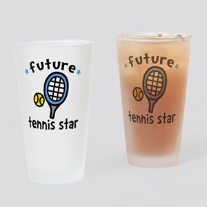 Tennis Star Drinking Glass