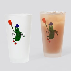Pickleball Pickle Drinking Glass