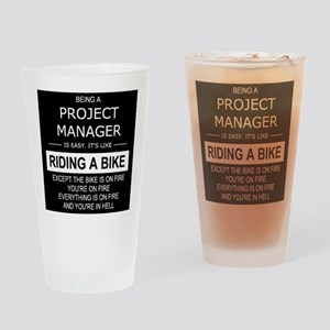project manager IN HELL Drinking Glass