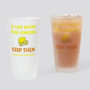 Keep Lemons Yellow Drinking Glass