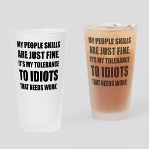 People Skills Idiots Drinking Glass
