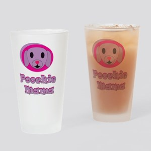 poochie momma lavender word top cop Drinking Glass
