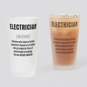 Funny Electrician Definition Drinking Glass
