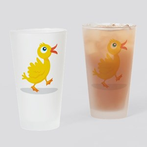 Cartoon Rubbe Duckie-2 Drinking Glass