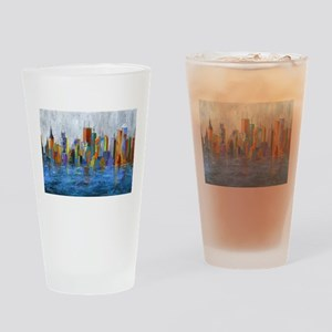 Hong Kong Island Drinking Glass