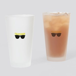 yellow cali shades Drinking Glass