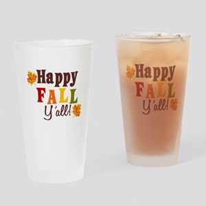 Happy Fall Yall! Drinking Glass