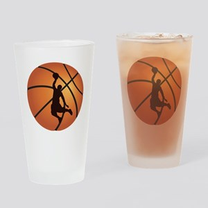 Basketball dunk Drinking Glass
