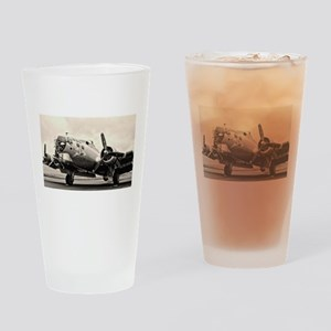B-17 Bomber Aircraft Drinking Glass