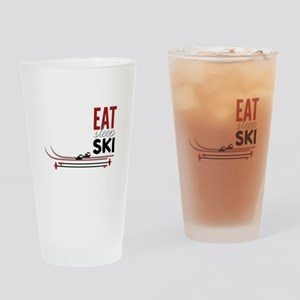 Eat Sleep Ski Drinking Glass