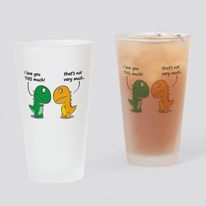 Cute Dinosaurs Drinking Glass