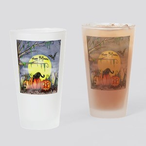 Halloween Scene Drinking Glass