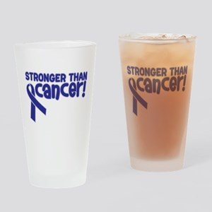 STRONGER THAN CANCER (Colon) Drinking Glass