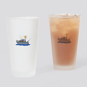 Fishing Boat Drinking Glass