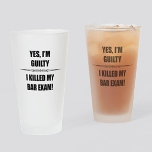 Bar Exam - Im Guilty Drinking Glass