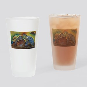 Turtles Drinking Glass
