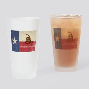 Texas and Gadsden Flag Drinking Glass