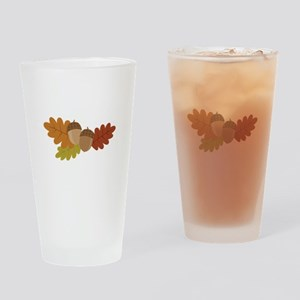 Acorn Leaves Drinking Glass