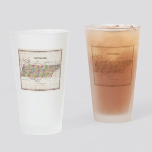 Vintage Map of Tennessee (1827) Drinking Glass