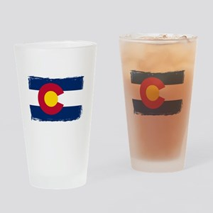 Colorado state flag rough edges Drinking Glass