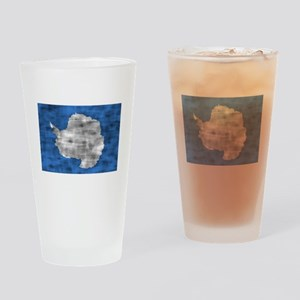 Distressed Antarctica Flag Drinking Glass