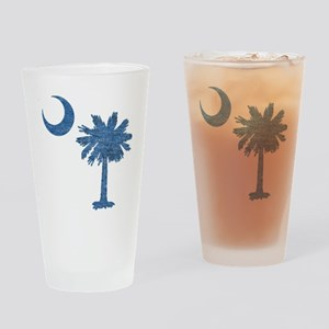 Vintage South Carolina Flag Pint Glass