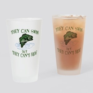 THEY CAN SWIM BUT CAN'T HIDE Drinking Glass
