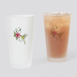 HUMMINGBIRD AND FLOWER Drinking Glass