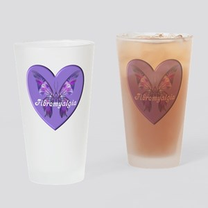 FIBRO BUTTERFLY HEART Drinking Glass