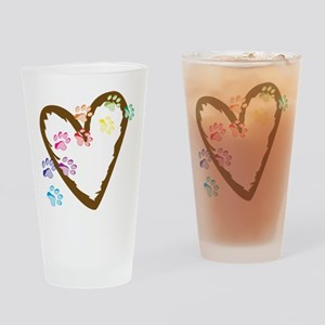 Paw Heart Drinking Glass