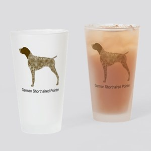 Liver & White GSP Drinking Glass