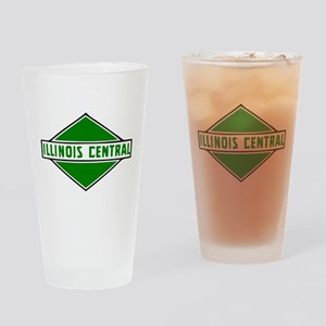 Illinois Central Railroad logo Drinking Glass
