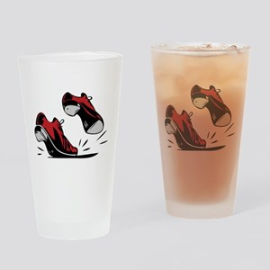 Tap Dancing Shoes Drinking Glass