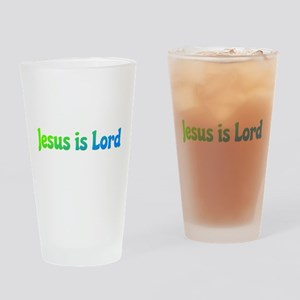 Jesus is Lord Drinking Glass
