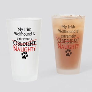 Naughty Irish Wolfhound Drinking Glass