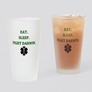 Eat Sleep Fight Darwin Drinking Glass