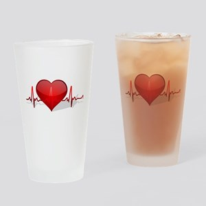 heart beat Pint Glass