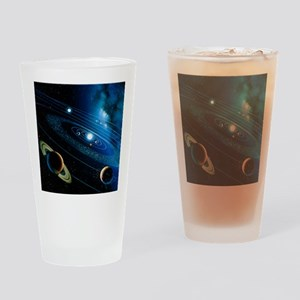 Artwork of the solar system - Drinking Glass