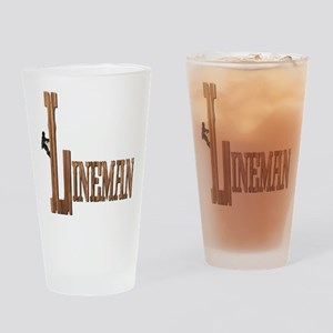 Lineman Wood Drinking Glass