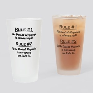 Rule Dental Hygienist Drinking Glass