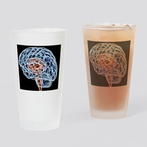 Brain, artwork Drinking Glass