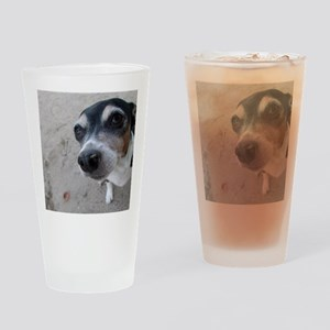 Beach Rat Terrier  Drinking Glass