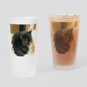 Black Hamster Drinking Glass