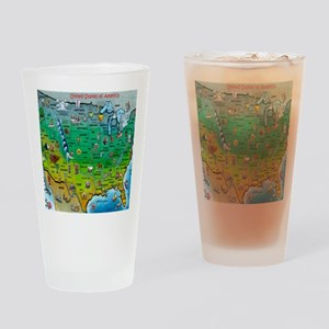 USA Map Blanket Drinking Glass