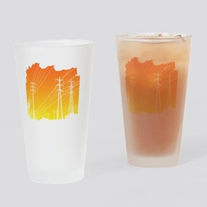 All Over Powerlines design Drinking Glass