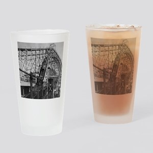 Coney Island Cyclone Roller Coaster Drinking Glass