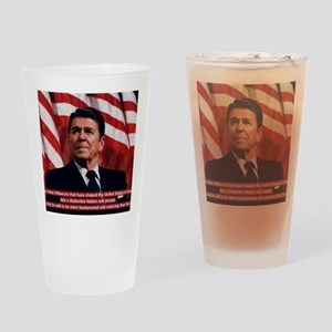 Ronald Reagan Bible Quote Drinking Glass